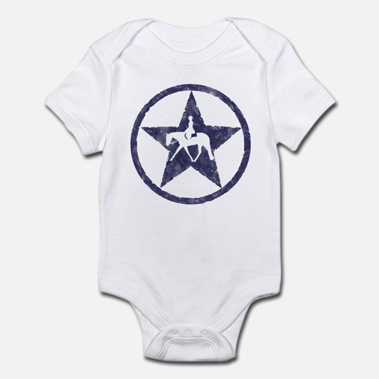 Texas star english horse Infant Bodysuit