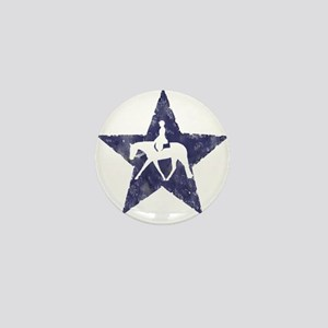 Texas star english horse Mini Button