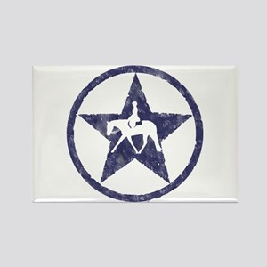 Texas star english horse Rectangle Magnet