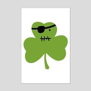 Pirate Shamrock Mini Poster Print