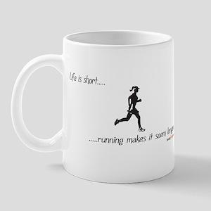 Life is Short Running Mug