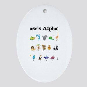 Chase's Animal Alphabet Oval Ornament