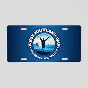 West Highland Way Aluminum License Plate
