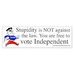 Free t vote Independent Bumper Sticker