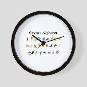 Gavin's Animal Alphabet Wall Clock