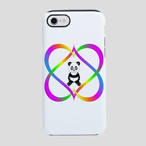 Fun Panda in Linking Hearts iPhone 8/7 Tough Case