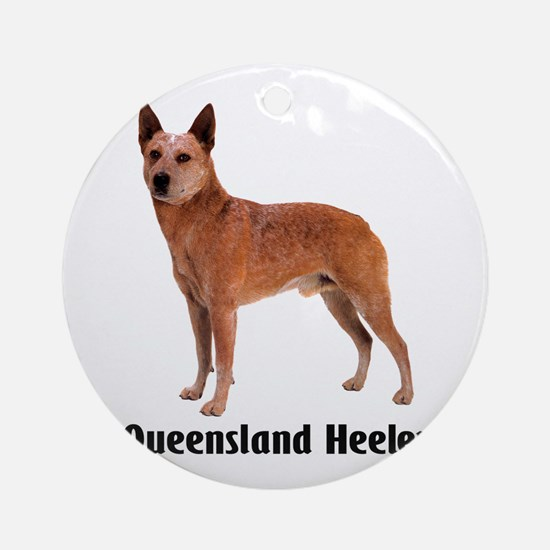 Queensland Heeler Ornament (Round)