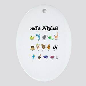 Jared's Animal Alphabet Oval Ornament