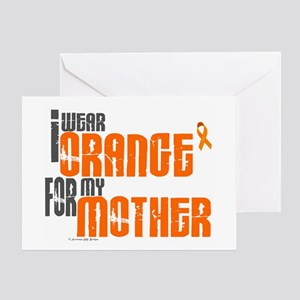 I Wear Orange For My Mother 6 Greeting Card