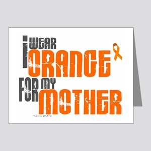 I Wear Orange For My Mother 6 Note Cards (Pk of 20