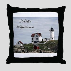 Nubble Lighthouse ~ Throw Pillow