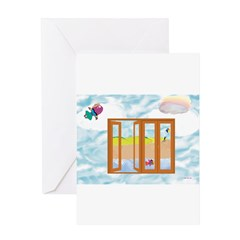 Door to the sky Greeting Cards