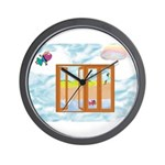 Door to the sky Wall Clock