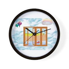 Door to the sky Wall Clock