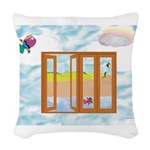 Door to the sky Woven Throw Pillow