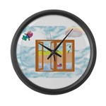 Door to the sky Large Wall Clock