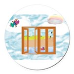 Door to the sky Round Car Magnet