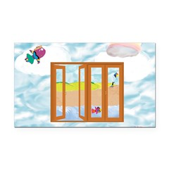Door to the sky Rectangle Car Magnet