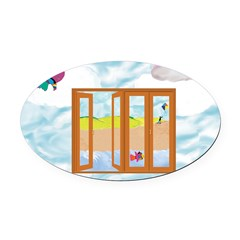 Door to the sky Oval Car Magnet