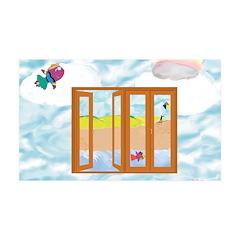 Door to the sky Wall Decal