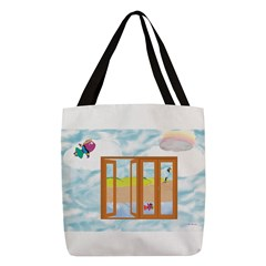 Door to the sky Polyester Tote Bag