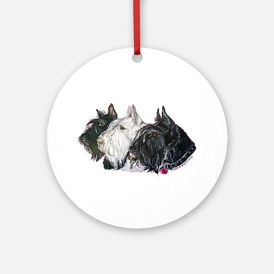 Scottish Terrier Trio Ornament (Round)