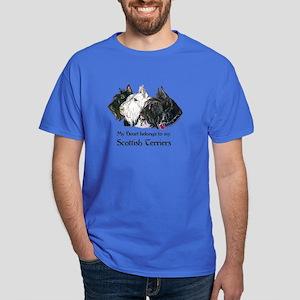 Scottish Terrier Trio Dark T-Shirt