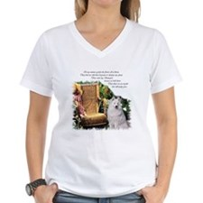 Samoyed Art Women's V-Neck T-Shirt