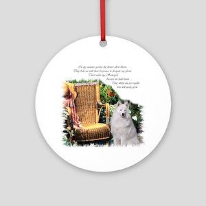 Samoyed Art Ornament (Round)