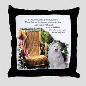 Samoyed Art Throw Pillow