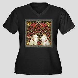 Celtic Wheat Women's Plus Size V-Neck Dark T-Shirt