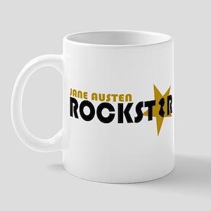 Jane Austen Rockstar Gold Mug