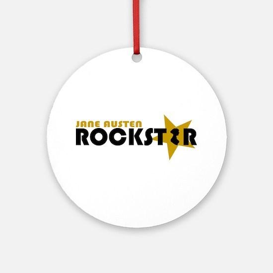 Jane Austen Rockstar Gold Ornament (Round)