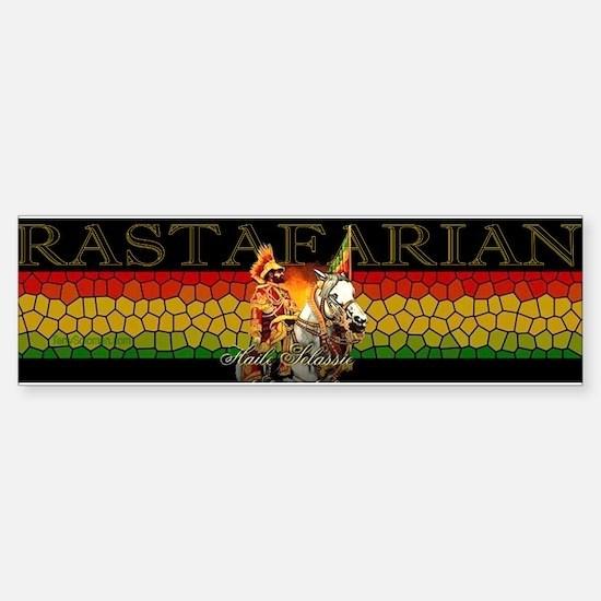Reggae Rastafarian Bumper Car Car Sticker