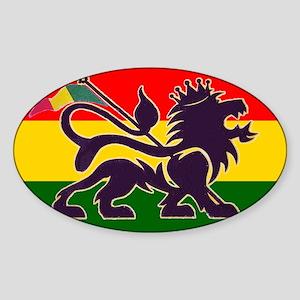 Reggae Rastafarian Oval Sticker
