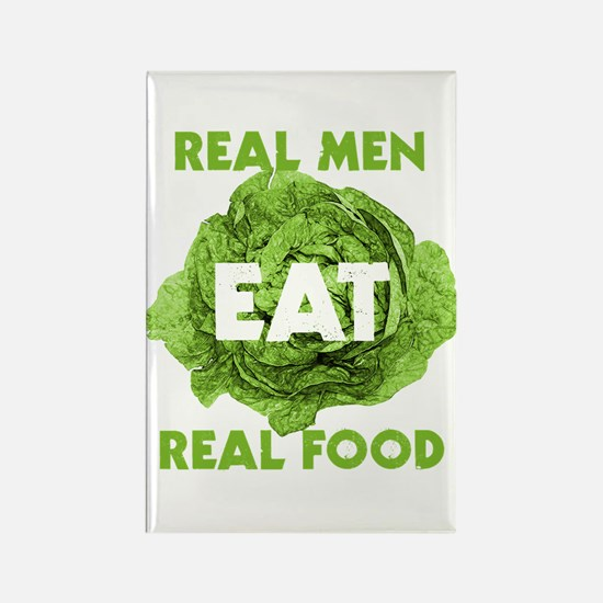 Real Men Eat Real Food Rectangle Magnet