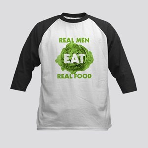 Real Men Eat Real Food Kids Baseball Jersey