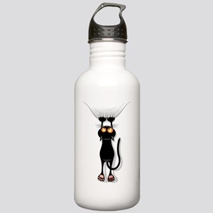Funny Black Cat Hangin Stainless Water Bottle 1.0L