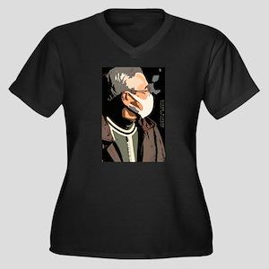 The Mask I Women's Plus Size V-Neck Dark T-Shirt