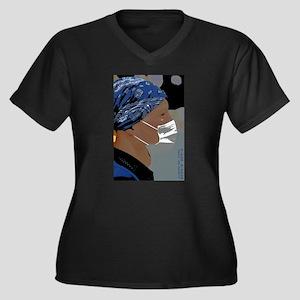The Mask II Women's Plus Size V-Neck Dark T-Shirt
