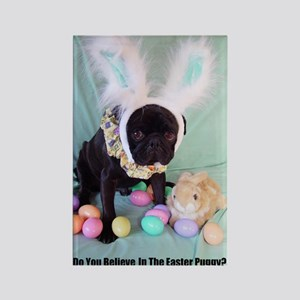 Easter Puggy Rectangle Magnet