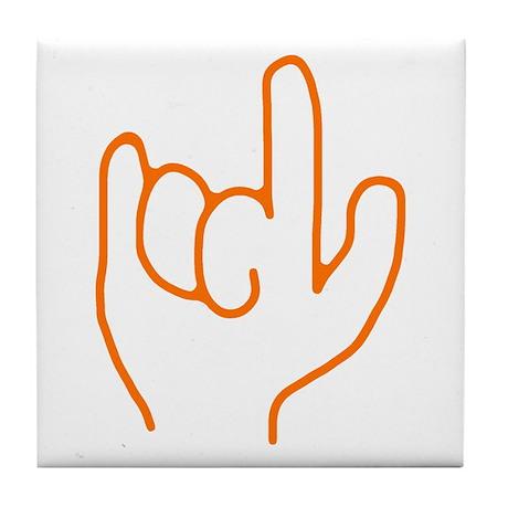 I Love You ASL Tile Coaster