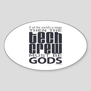 Tech Crew Gods Oval Sticker