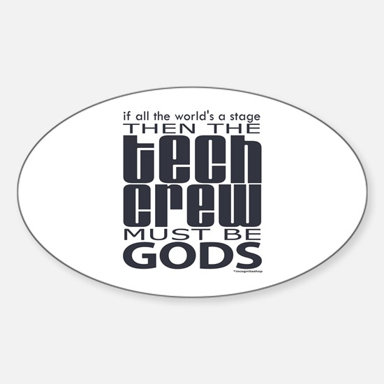 Tech Crew Gods Oval Decal