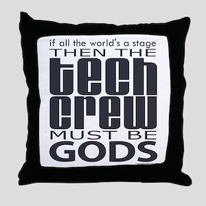 Tech Crew Gods Throw Pillow