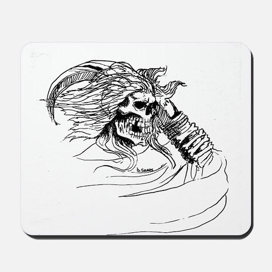 Ankou Ghost Skulls Mousepad