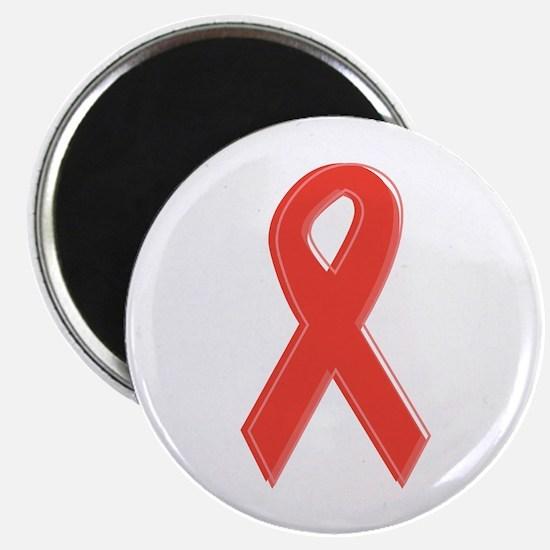 "Red Awareness Ribbon 2.25"" Magnet (10 pack)"