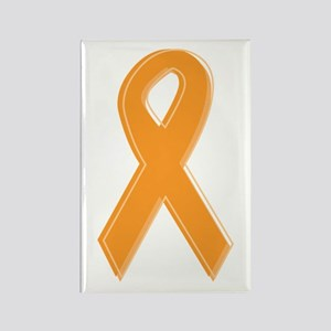 Orange Aware Ribbon Rectangle Magnet