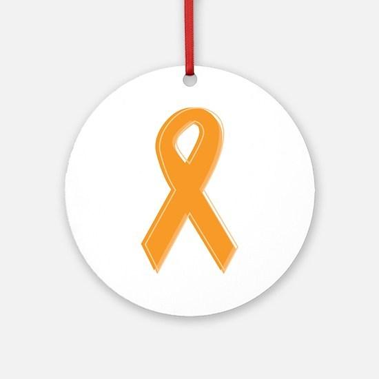 Orange Aware Ribbon Ornament (Round)