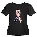 Patriotic Ribbon #2 Women's Plus Size Scoop Neck D
